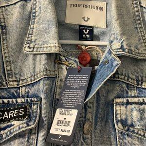 True Religion Jackets & Coats - True Religion Trucker Embroidered Jacket
